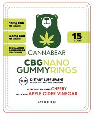 CANNABEAR - CBG Nano Gummies 150MG